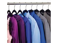 Coathangers - 140 black velvet covered nearly new slip resistant hangers in excellent condition