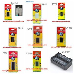 Batteries and Chargers for Canon/Nikon/Sony Cameras and Videos