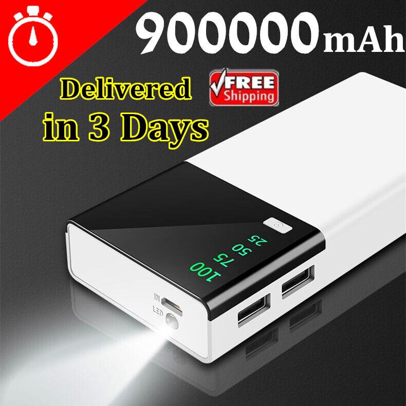 Huge Capacity Power Bank 900000mAh Portable New External Bat