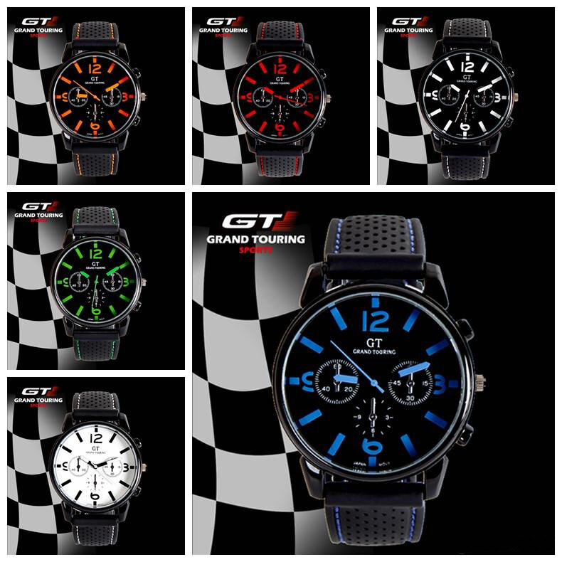 Sports F1 GT Touring Racing Mens Boys Wrist Watch Analog Quartz Silicon Strap UK