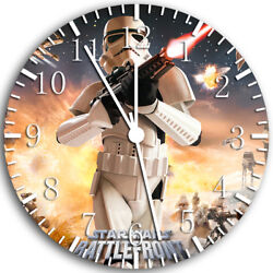 Star Wars Frameless Borderless Wall Clock Nice For Gifts or Decor W48