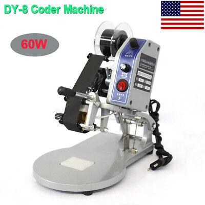 Dy-8 Manual Hot Stamp Printer Coding Machine Date Coder Ribbon Coder 220v 60w Us
