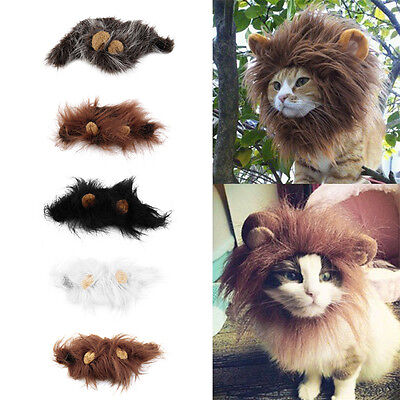 Ky Halloween-kostüm (Pet Costume Lion Mane Wig for Cat Halloween Christmas Party Dress Up With Ear KY)