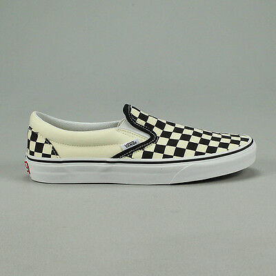 Vans Classic Slip-On Checkerboard Black Trainers Sizes UK 4,5,6,7,8,9,10,11,12