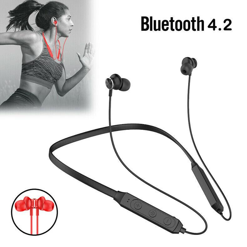 Bluetooth Neckband Headphone Magnetic Wireless Earbuds Sport