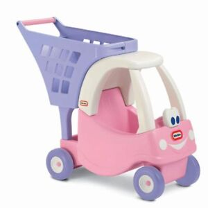 NEW: Little Tikes Cozy Shopping Cart Pink/ Purple