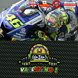 Valentino Rossi VR 46 Laminated 3M Reflective Screen Decals Sticker 120mm F249