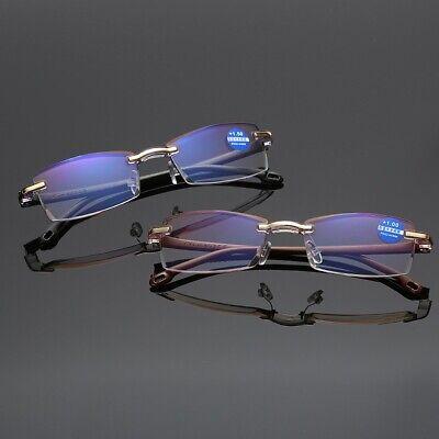 Lesebrille Blaulichtfilter Randlose Rahmenlose Lesehilfe Unisex Anti-Blaulicht