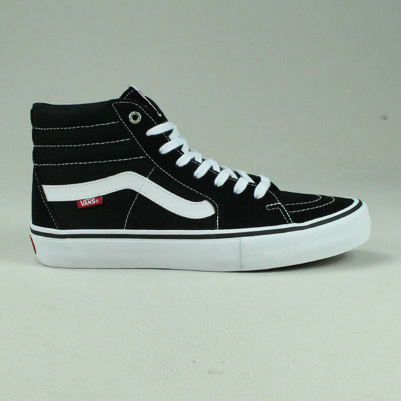 70d1ea100e9b6 Details about Vans Sk8 Hi Pro Trainers Shoes in Black/White in UK Size  4,5,6,7,8,9,10,11