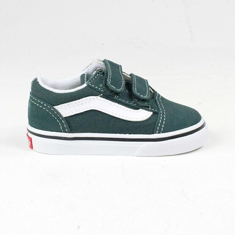 Details about Vans Old Skool V ToddlersInfants Trainer Trekking Green Size 3,4,5,7,8,9