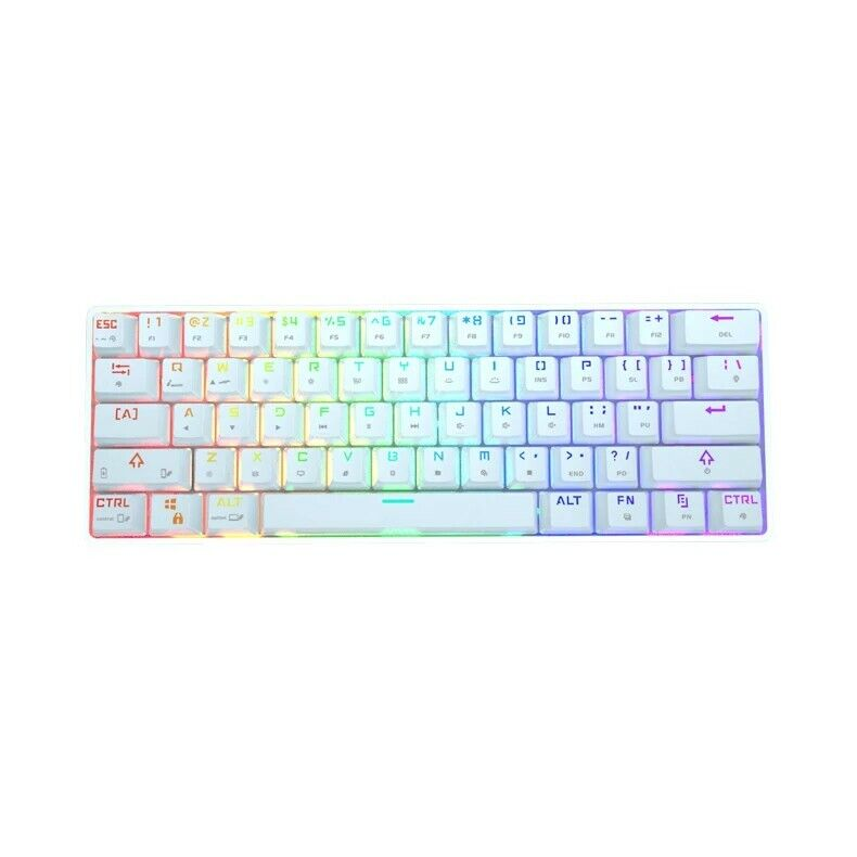 Dk61 60%Mechanical Bluetooth 5.1 RGB keyboard red switch gateron