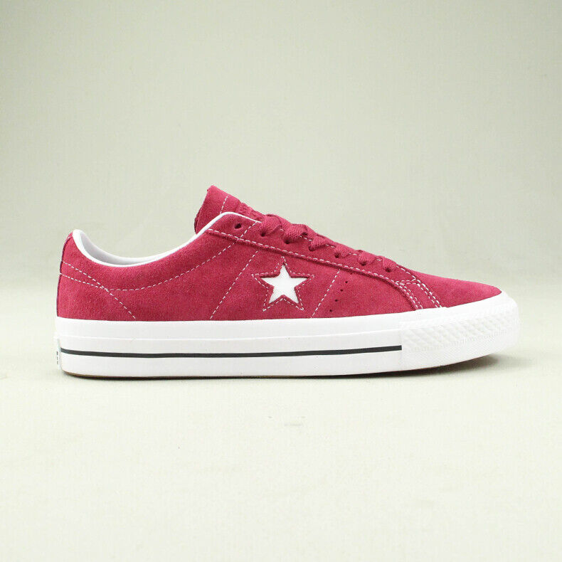 Details about Converse One Star Pro Ox Trainers Shoe in BerryWhite in UK size 7,8,9,10,11