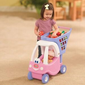 NEW:Little Tikes Cozy Shopping Cart - Color : Pink - $35(NO TAX)