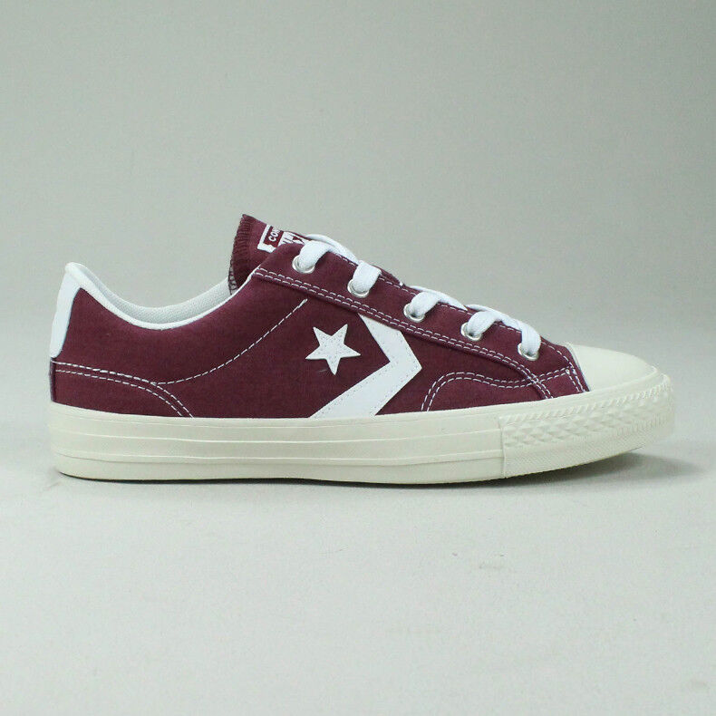 Details about Converse Star Player Ox Shoe Trainers in Burgundy Size UK size 4,5,6,7,8,9,10