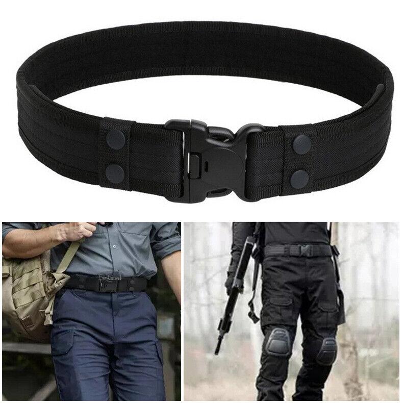 Mens Quick Release Tactical Belt Waterproof Combat Gun Holster Nylon Waistband