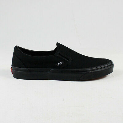 Vans Basic Classic Slip-On Trainers in Black/Black size UK 4,5,6,7,8,9,10,11,12