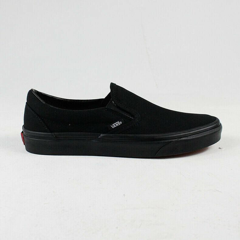 Details zu Vans Basic Classic Slip On Trainers in BlackBlack size UK 4,5,6,7,8,9,10,11,12
