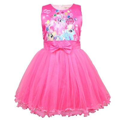 Girls Tutu Dress Kids My Little Pony Print  Casual Party Birthday Dresses L12 - Little Girls Birthday Party