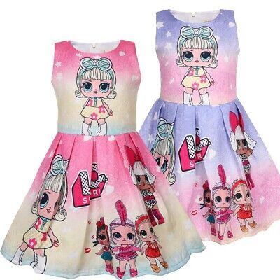 Kinder Mädchen Karneval Cosplay Kostüm Sommer Drucken Kleid Tüll Party - Sommer Ball Kostüm