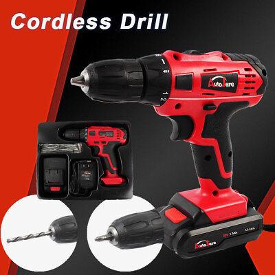 38 Cordless Drill Set Kit Cordless Drill Battery Charger Power Tool 18v20v
