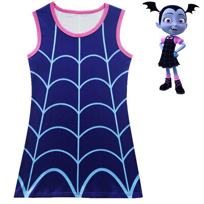 2018 Girls Cute Vampirina Cartoon Nightgown Dress Sleep wear Cosplay Costume O56](Cute Costume For Girls)