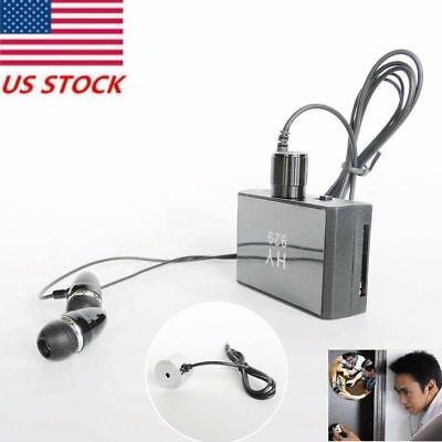 Sound Pick Up Wall Microphone Voice Bug Ear Listen Through Wall Device Enhanced