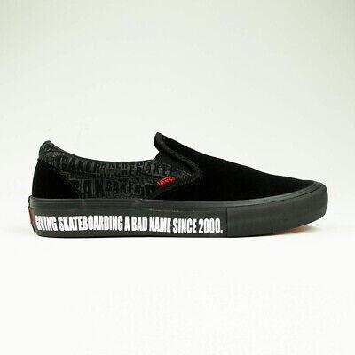 Vans x Baker Skateboards Slip On Pro Shoes – Black / White UK Size 6,7,8,9,10,11