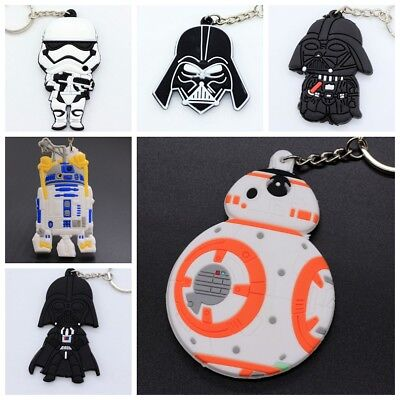 NEW Star Wars Soft Rubber Keyring Keychain double sideds