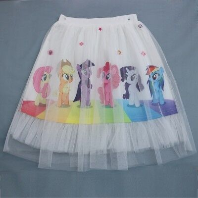 Kids Girls Frozen My Little Pony Tutu Skirt Petticoat Party Costume - My Little Pony Tutu