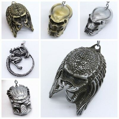 NEW 3D The Predator Mask  Soft Metal Keyring Keychain - Metal Predator Mask