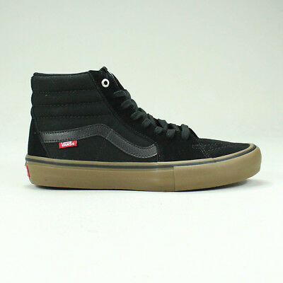 Vans Sk8 Hi Pro Trainers Shoes in Black/Gum in UK Size 4,5,6,7,8,9,10,11,12