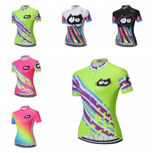 Cats Cycling Jersey Women Bike Road MTB Tops T-Shirt Short S