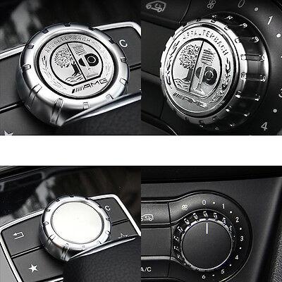 1 Ps Multimedia Control Badge Alloy OEM AMG Sticker Badge Logo For Mercedes Benz