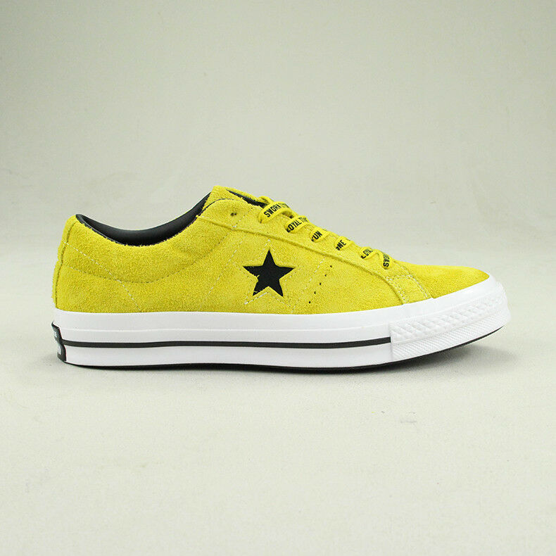 Details about Converse One Star Pro Ox Trainers Shoe in CitronBlack in UK size 6,7,8,9,10,11