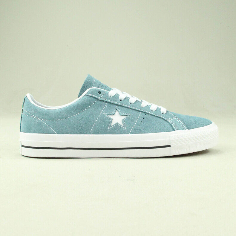 Details about Converse One Star Pro Ox Trainers Shoe in Washed Blue in UK size 6,7,8,9,10,11