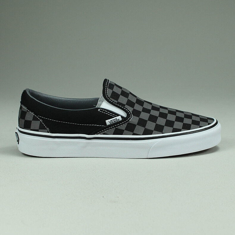 vans womens classic slip on trainer black pewter checkerboard
