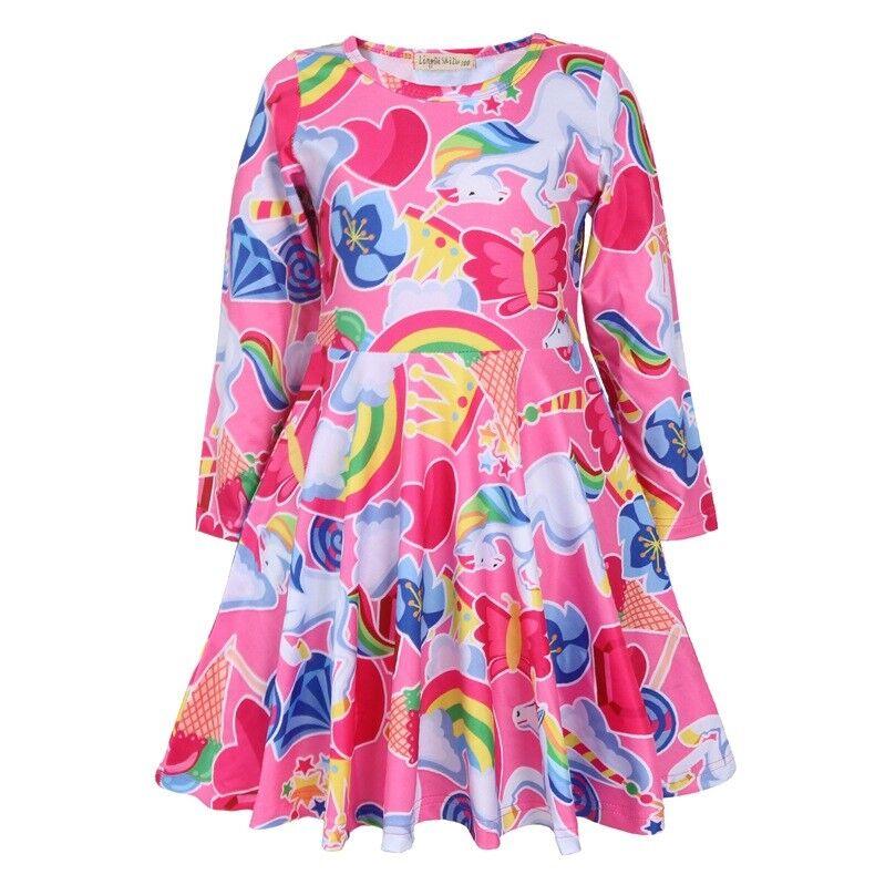 Children/'s Girls/' Kids Cute Short Sleeve Minnie Mouse Skater Dress Costume ZG9