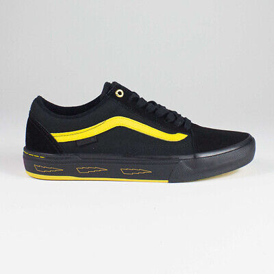 Vans Old Skool Pro BMX Trainers Shoes in Black/Yellow in UK Sizes 6-11