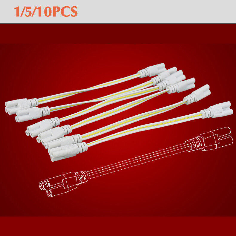 10 PCS T5 T8 Tube Connector Cable Wire Cord for Integrated LED Led Tube Light