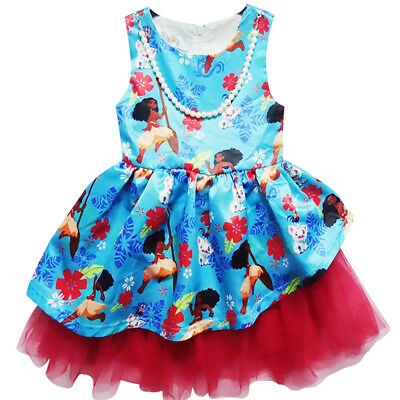 New Cute Moana Girls Fancy Party Tutu Dress Princess Kids Child Costume k68](Cute Kid Costumes)
