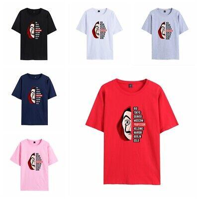 Money Heist Printed Round neck Short sleeve Cotton tshirts Men Women Baggy Tee