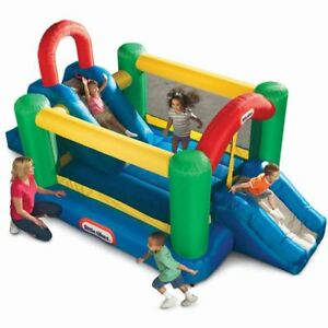 Double slide bouncy castle (little tykes)