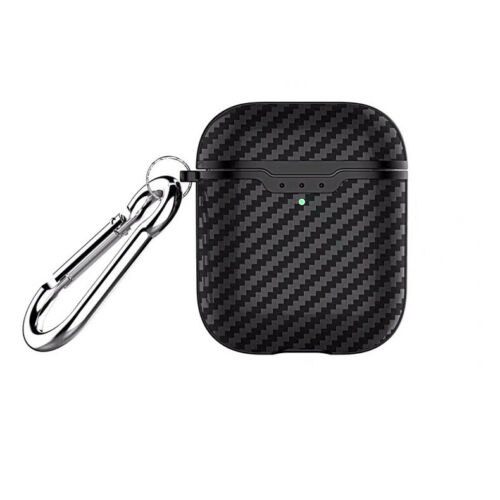 For Apple Airpods 2 Wireless Charging Case Carbon Fiber Texture