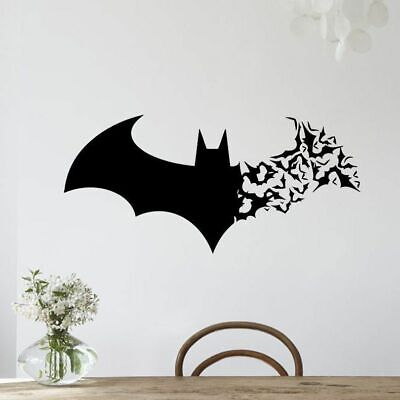 Halloween Living Room Decor (Halloween Batman Wall Stickers PVC Waterproof Decor Living Room Windows)