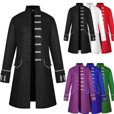 Retro Mens Gothic Tail Coat Jacket Frock Long Coat Steampunk Cosplay Uniform - Long Tail Jacket