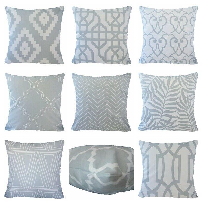 Soft Velvet Gray Throw PILLOW COVER Geometry Sofa Couch Cush