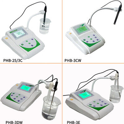 Lab Ph Meter Benchtop Digital Acidity Measure Mv Tester Temperature Compensate