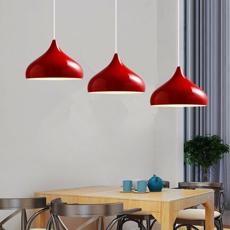 Details about Kitchen Pendant Lighting Bar Modern Ceiling Light Bedroom  Lamp Red Pendant Light