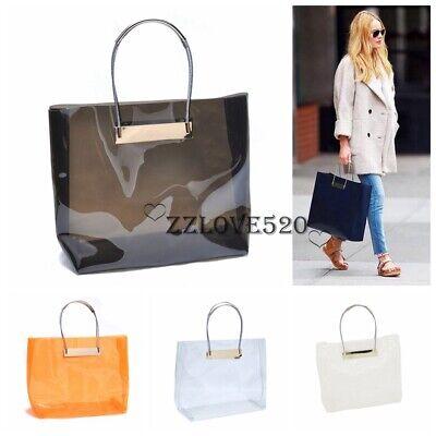 New Women's Designer Clear Handbag Tote Runway Shopping Shopper Purse Designer Handbags Shop