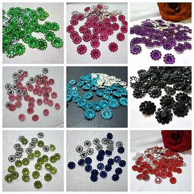 Round Sunflowers (100PCS Nice plastic round sunflowers Appliques/Wedding decoration Jewelry)